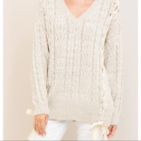 Tie Front Sweater 763f56862
